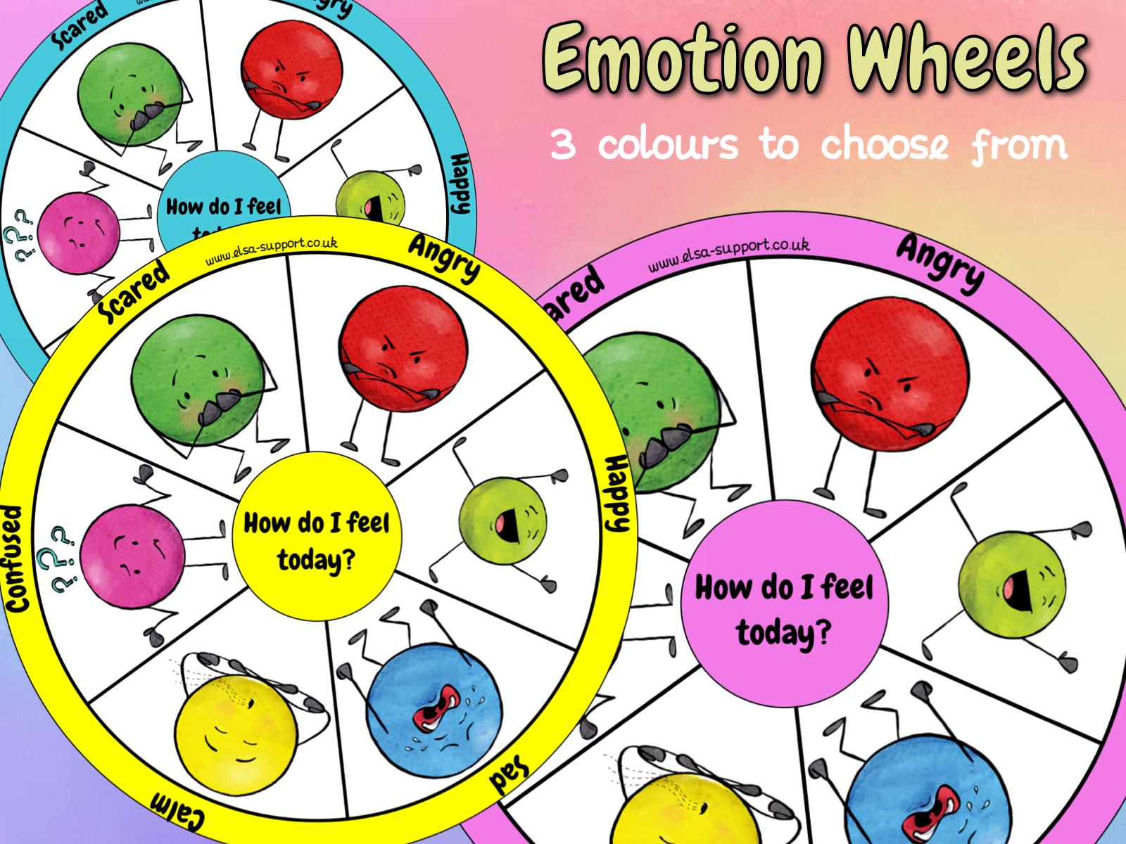 Feelings Wheel Elsa Support For Emotional Literacy