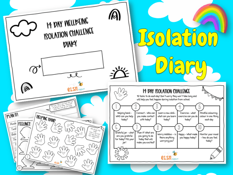 isolation diary booklet