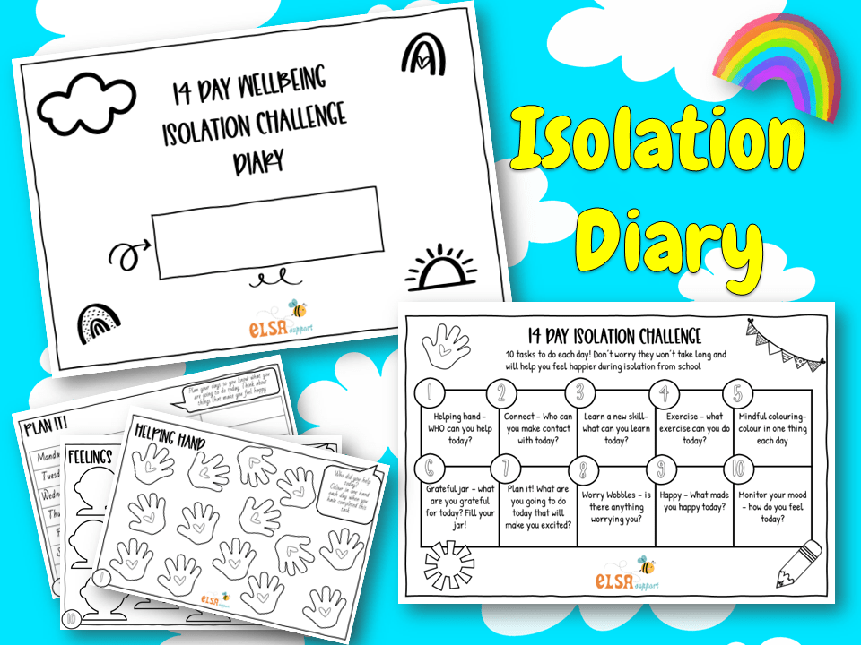 Isolation diary for children - ELSA Support for emotional literacy