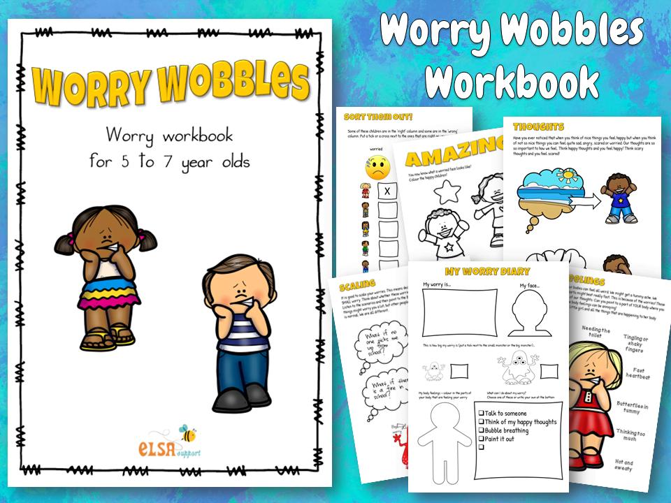 Worry Wobbles Workbook KS1 - Item 395 - ELSA Support