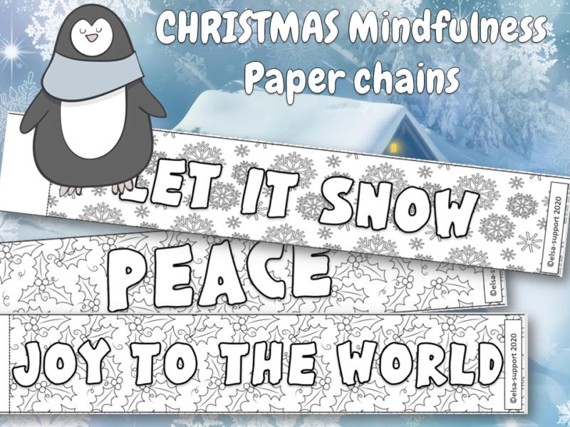 christmas mindfulness paper chains