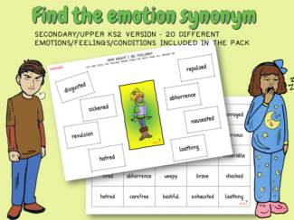 Find the emotion synonym
