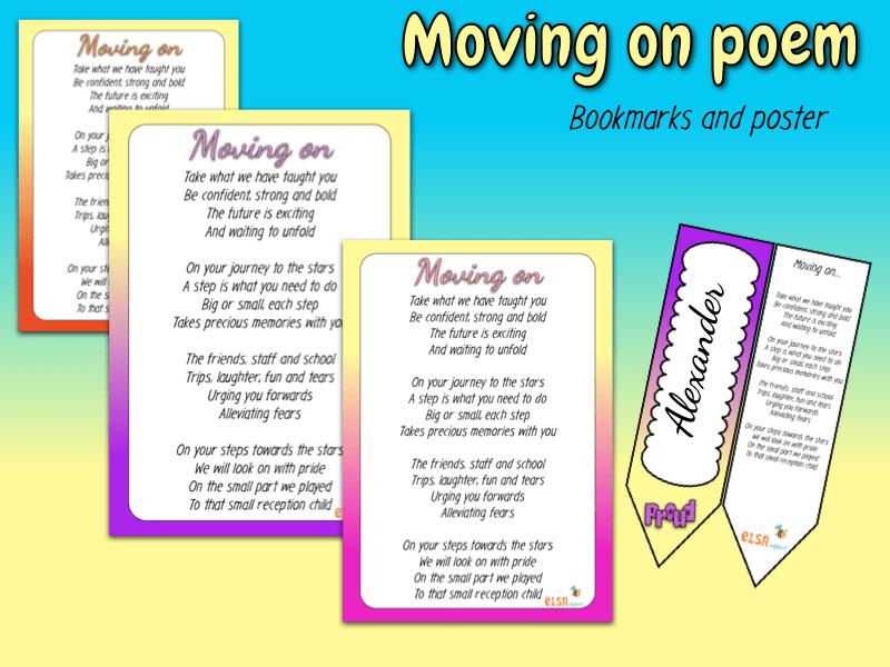 Moving on poem