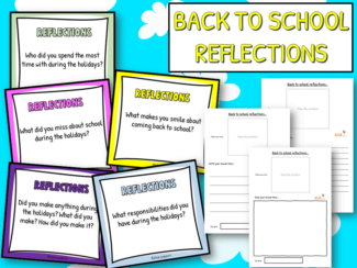 back to school holiday reflections