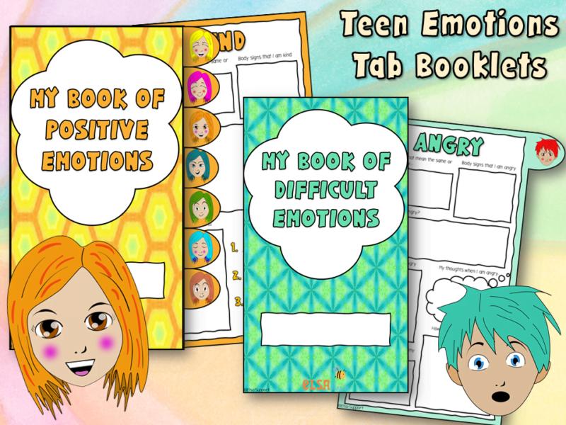 teen emotions tab booklets