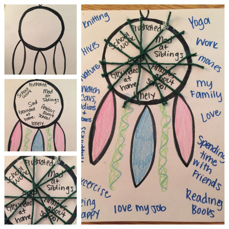 Dream Catcher Worksheet Working reactively 23