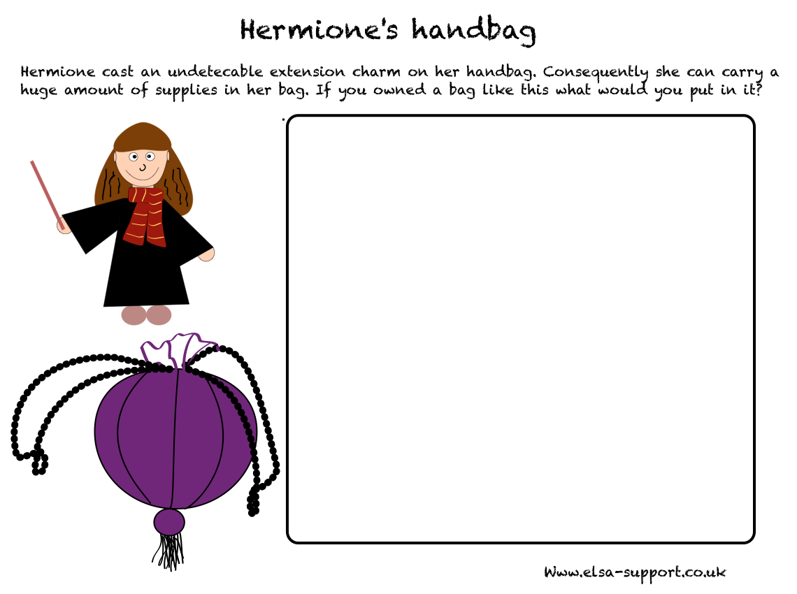 Uncategorized Harry Potter Worksheets Harry Potter Themed Emotional  Literacy Hermiones Bag  Harry Potter Resume