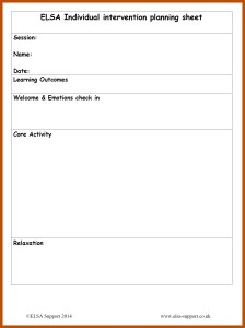 it support plan template - planning sheets elsa support