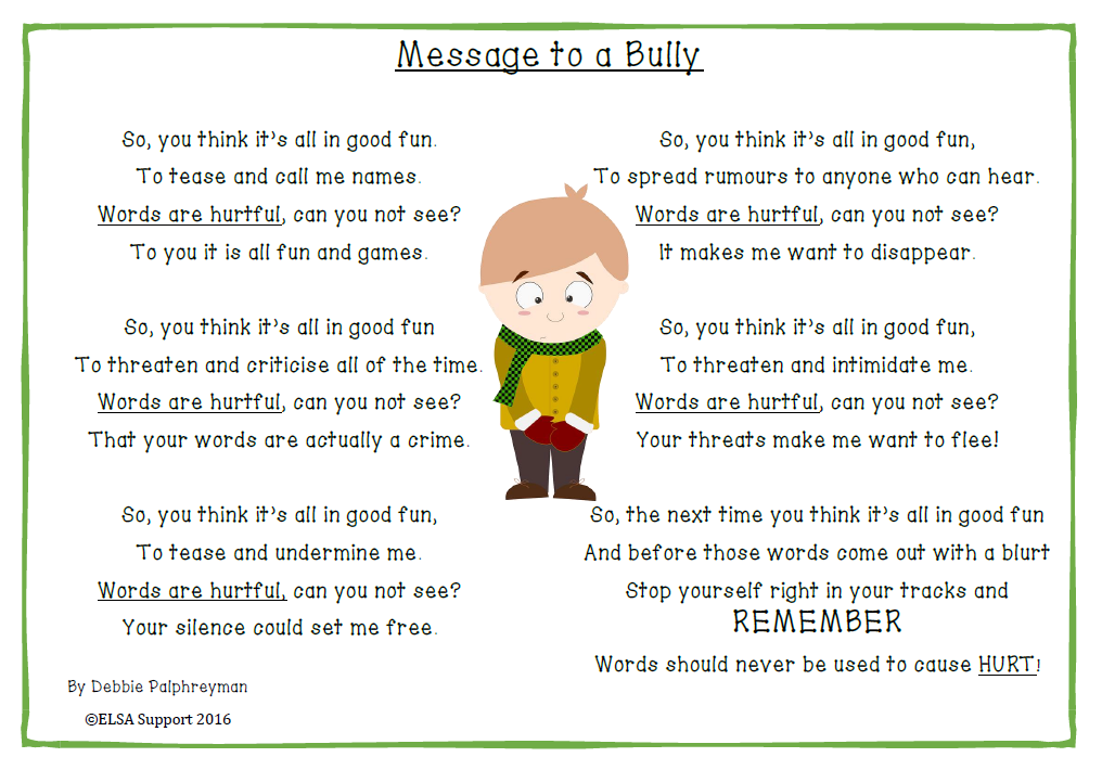 message-to-a-bully