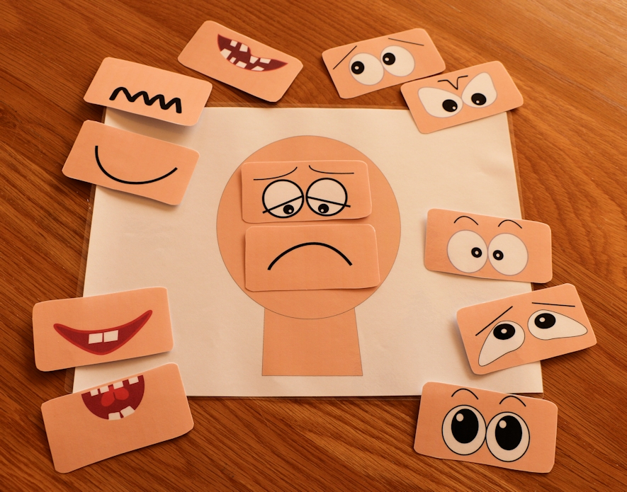 Make a face activities elsa support for Emotion art projects
