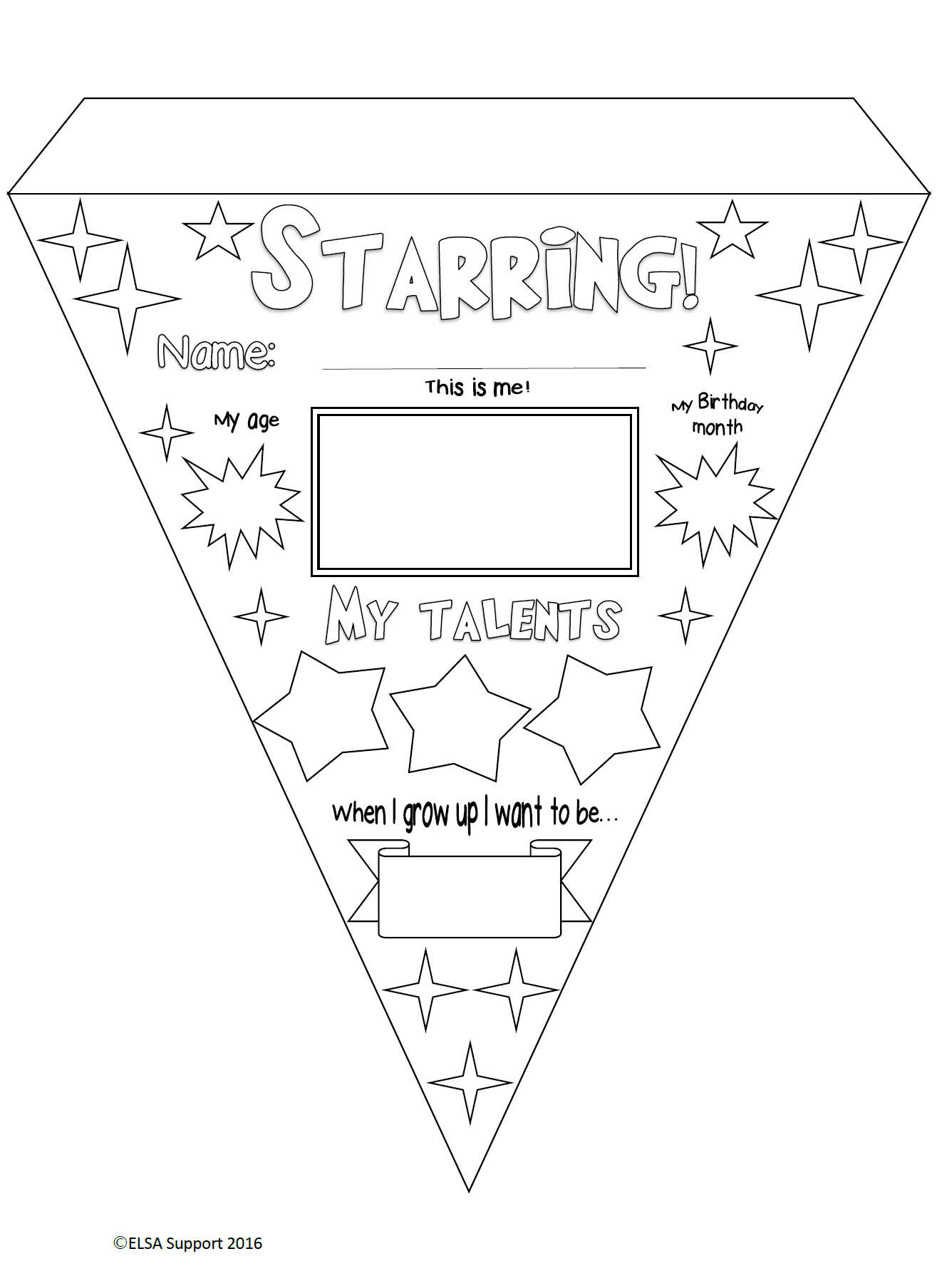 bunting - transition activity