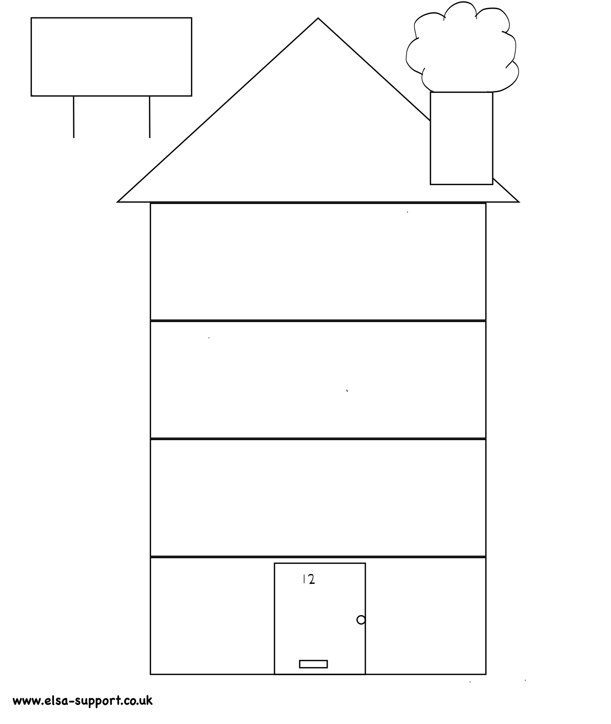 printable house template for kids - Monza berglauf-verband com