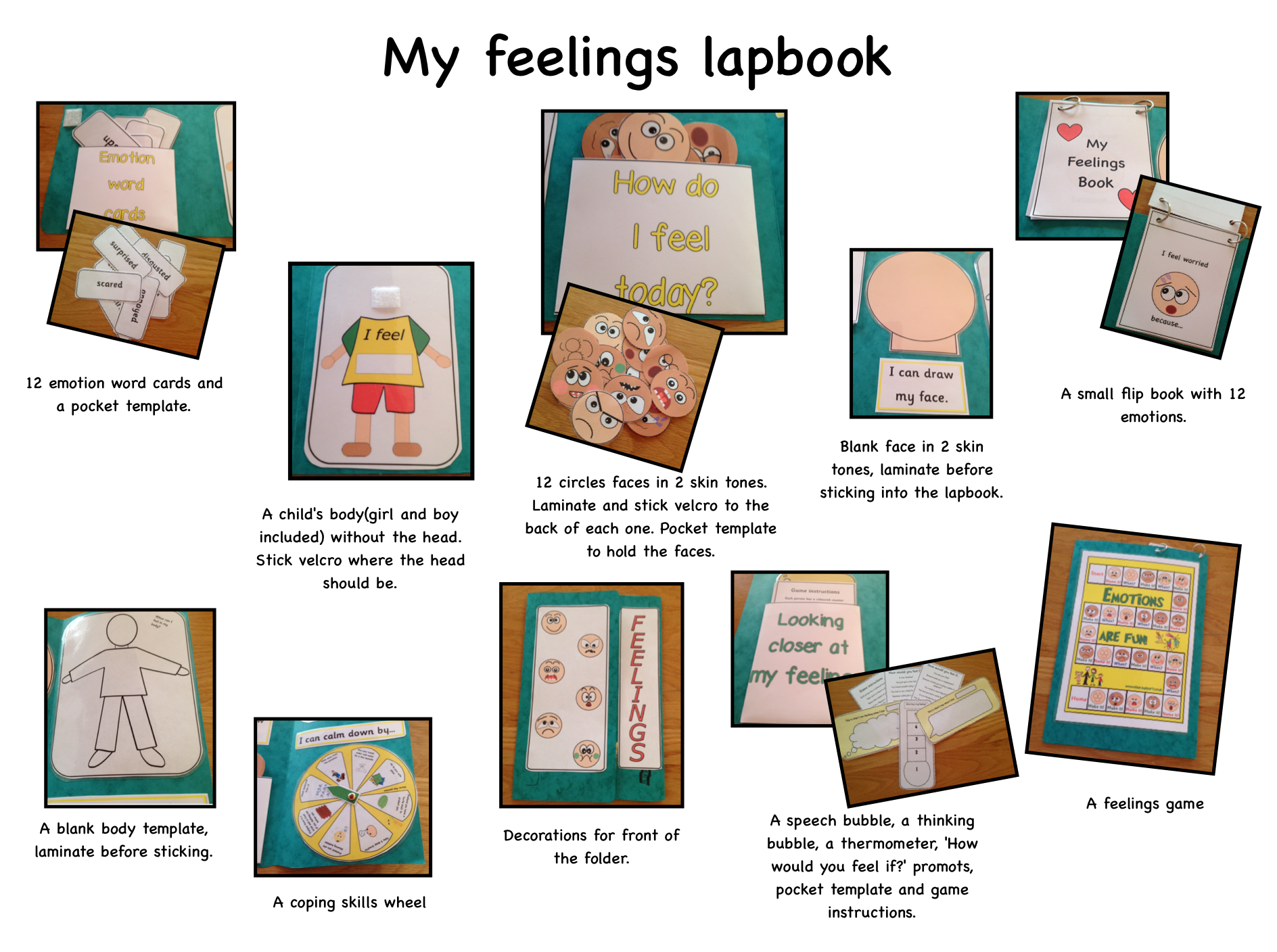my feelings lapbook - item 123