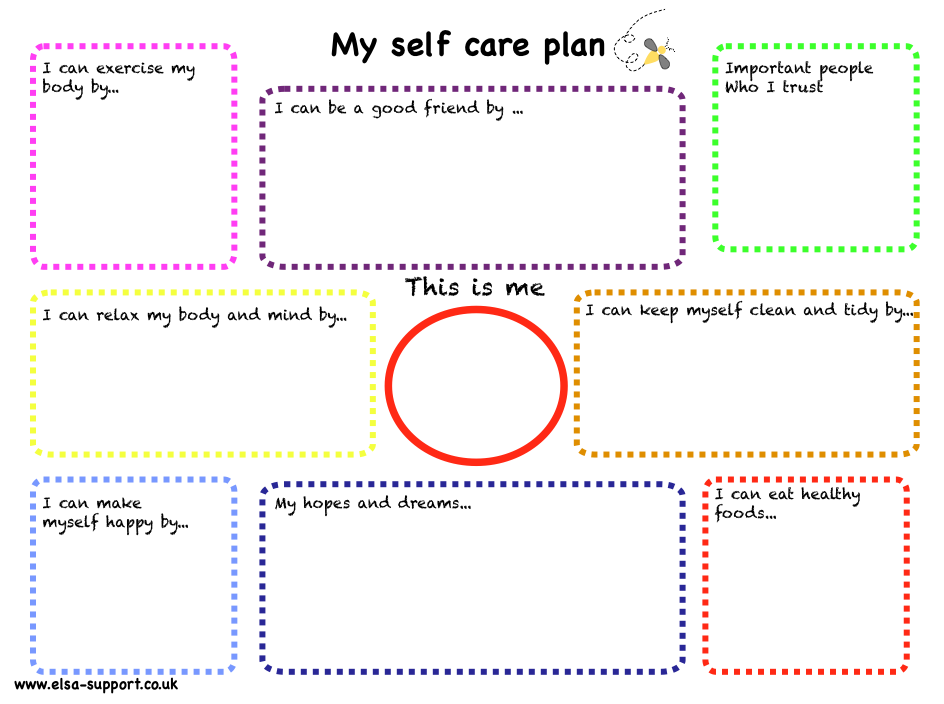 self care plan template let s get radical about self care theradicalidea