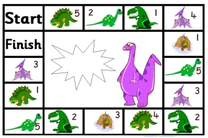 adding subtracting game dinosaurs