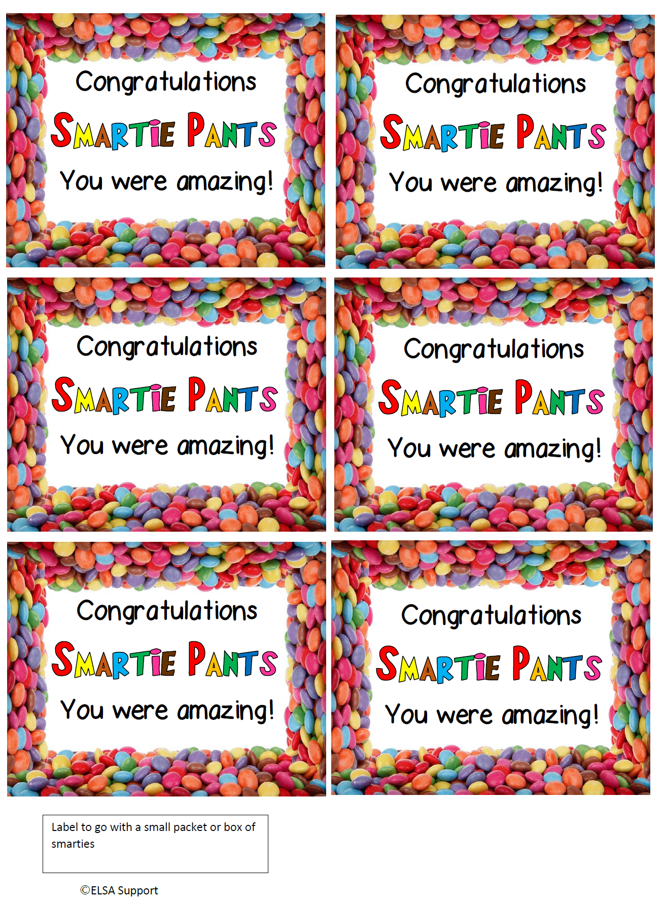 End Of Year Gift Labels For Your Class Or Group Elsa Support