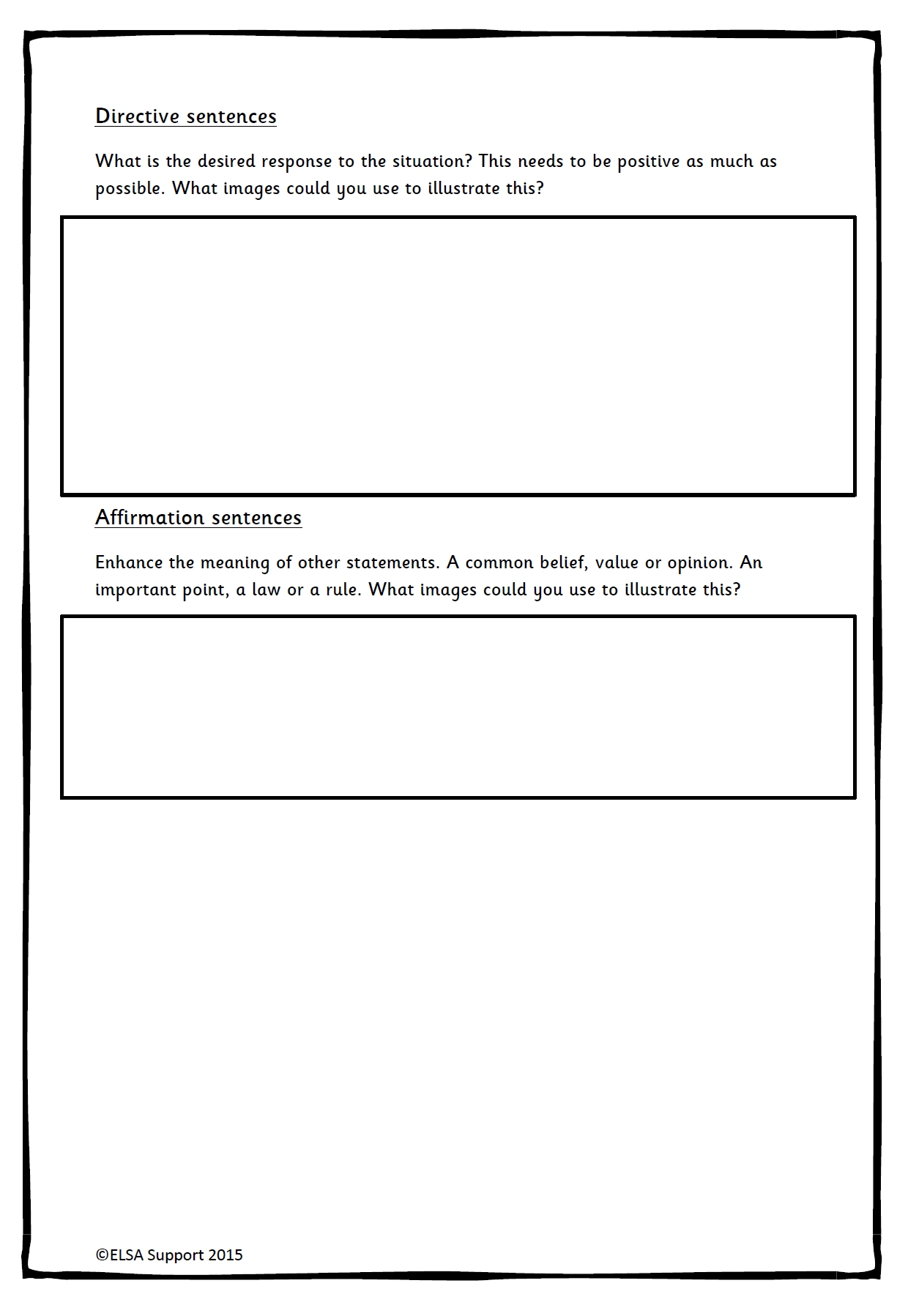 Social story template elsa support for Story planner free