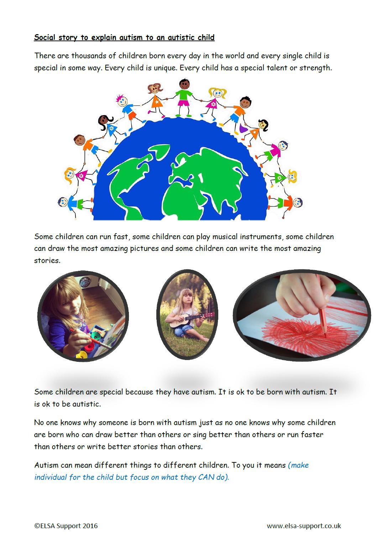 social story to explain autism